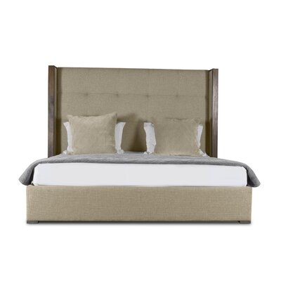 Hank Upholstered Platform Bed Color: Sand, Size: Mid Height Queen