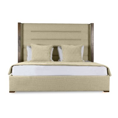 Hank Upholstered Platform Bed Color: Sand, Size: High Height Queen
