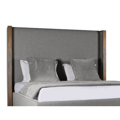 Hank Plain Upholstered Panel Bed Color: Gray, Size: High Height California King
