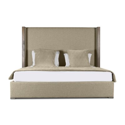Hank Plain Upholstered Panel Bed Color: Sand, Size: High Height California King