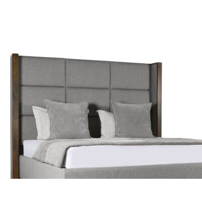Hank Square Tufted Upholstered Panel Bed Color: Gray, Size: High Height King