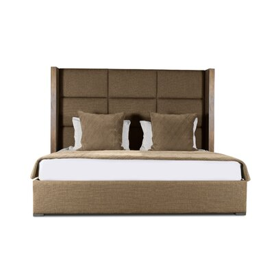 Hank Square Tufted Upholstered Panel Bed Color: Brown, Size: High Height King