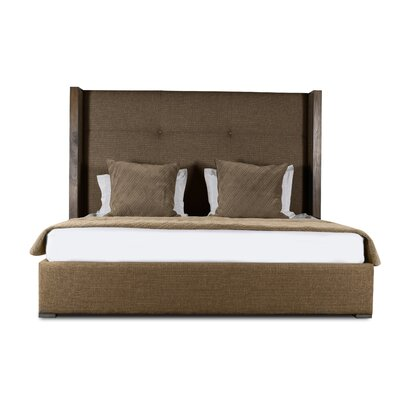 Hank Upholstered Platform Bed Color: Brown, Size: High Height California King