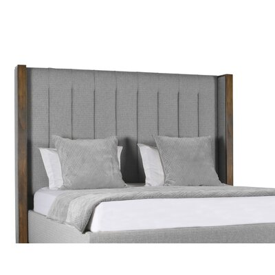 Hank Vertical Channel Tufting Upholstered Platform Bed Color: Gray, Size: High Height California King