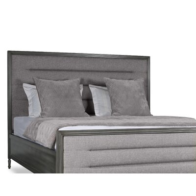 Faisan Horizontal Channel Tufting Upholstered Panel Bed Color: Gray, Size: California King