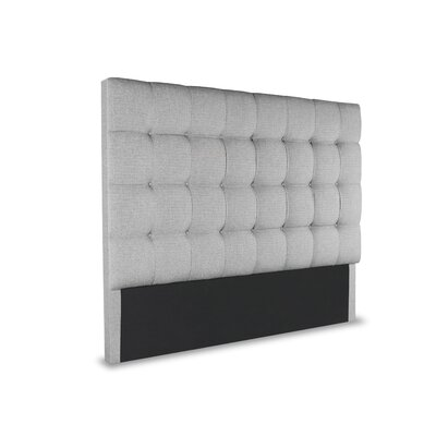 Hannover Box Tufting Upholstered Wingback Headboard Color: Gray, Size: High Height California King