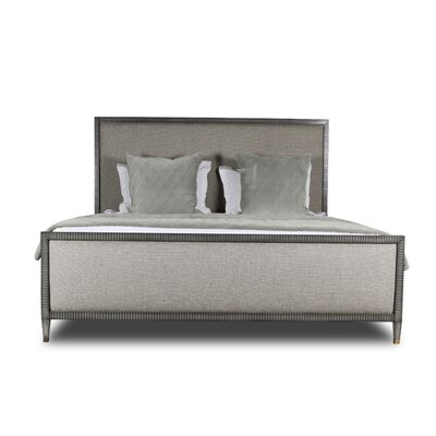 Korhonen Plain Upholstered Panel Bed Color: Gray, Size: Queen