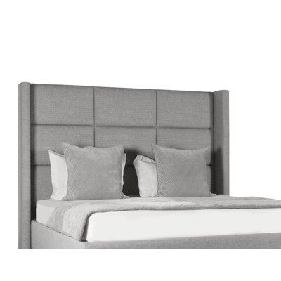Hansen Square Tufted Upholstered Panel Bed Color: Gray, Size: High Height King