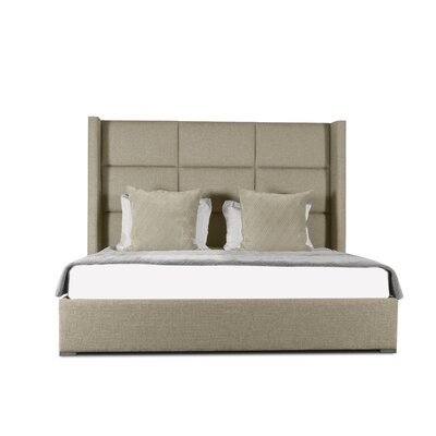 Hansen Square Tufted Upholstered Panel Bed Color: Sand, Size: Mid Height King