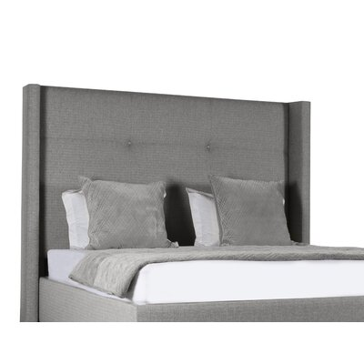 Hansen Upholstered Platform Bed Color: Gray, Size: High Height King