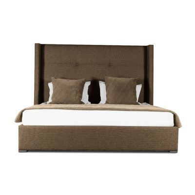 Hansen Simple Tufted Upholstered Panel Bed Color: Brown, Size: High Height King