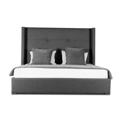 Hansen Simple Tufted Upholstered Panel Bed Color: Charcoal, Size: High Height King