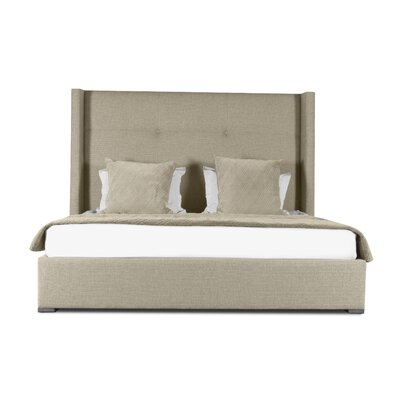 Hansen Simple Tufted Upholstered Panel Bed Color: Sand, Size: High Height Queen