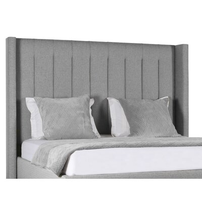 Hansen Upholstered Platform Bed Color: Gray, Size: High Height California King