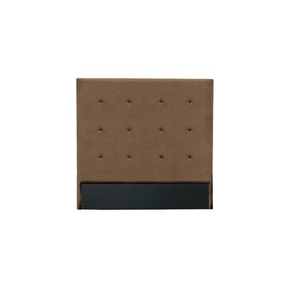 Handley Button Tufted Upholstered Wingback Headboard Color: Brown, Size: Mid Height King