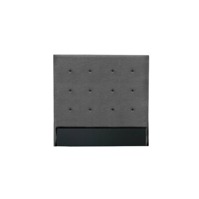 Handley Button Tufted Upholstered Wingback Headboard Color: Charcoal, Size: Mid Height King