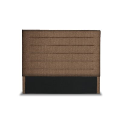 Handley Horizontal Channel Tufting Upholstered Wingback Headboard Color: Brown, Size: High Height Queen