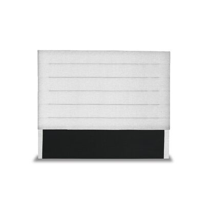 Handley Horizontal Channel Tufting Upholstered Wingback Headboard Color: White, Size: Mid Height King
