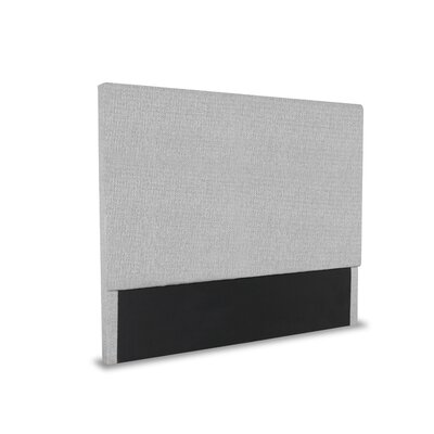Handley Plain Upholstered Wingback Headboard Color: Gray, Size: Mid Height King