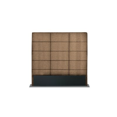 Handley Square Tufted Upholstered Wingback Headboard Color: Brown, Size: Mid Height Queen