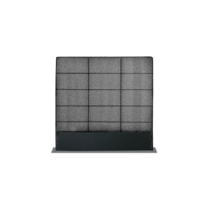 Handley Square Tufted Upholstered Wingback Headboard Color: Charcoal, Size: High Height King