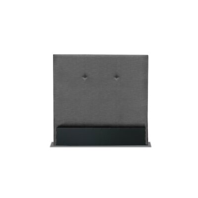 Handley Simple Tufted Upholstered Wingback Headboard Color: Charcoal, Size: Mid Height Queen