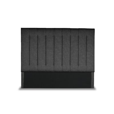 Handley Vertical Channel Tufting Upholstered Wingback Headboard Color: Charcoal, Size: Mid Height Queen