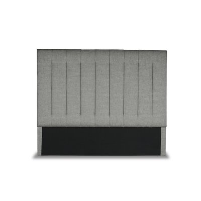 Handley Vertical Channel Tufting Upholstered Wingback Headboard Color: Gray, Size: Mid Height Queen