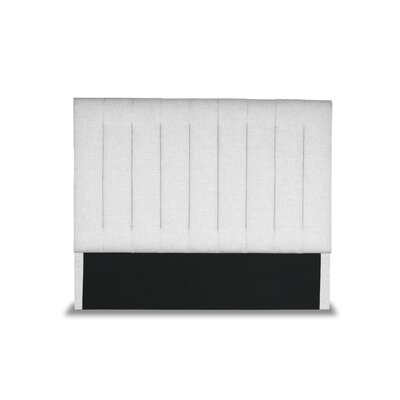Handley Vertical Channel Tufting Upholstered Wingback Headboard Color: White, Size: Mid Height California King