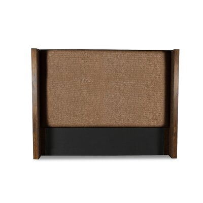 Hank Plain Upholstered Wingback Headboard Color: Brown, Size: High Height King