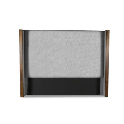 Hank Plain Upholstered Wingback Headboard Color: Gray, Size: Mid Height Queen