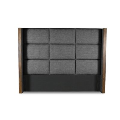 Hank Square Tufted Upholstered Wingback Headboard Color: Charcoal, Size: Mid Height California King