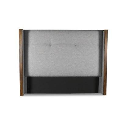 Hank Simple Tufted Upholstered Wingback Headboard Color: Gray, Size: High Height King