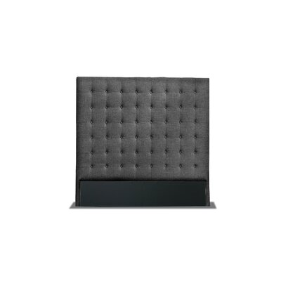 Hannover Box Tufting Upholstered Wingback Headboard Color: Charcoal, Size: High Height King