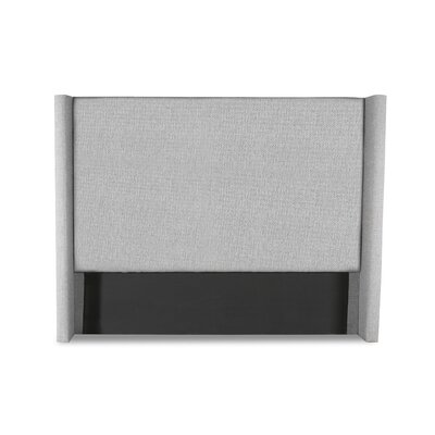Hansen Plain Upholstered Wingback Headboard Color: Gray, Size: Mid Height Queen