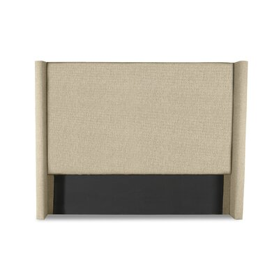 Hansen Plain Upholstered Wingback Headboard Color: Sand, Size: High Height Queen