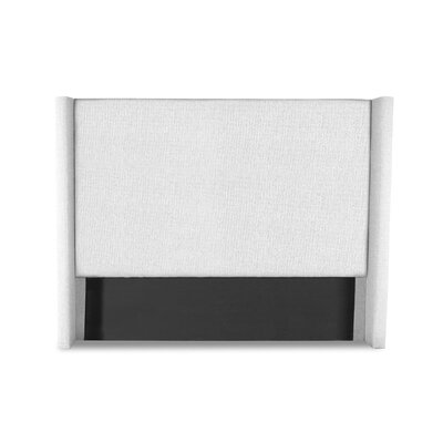 Hansen Plain Upholstered Wingback Headboard Color: White, Size: Mid Height King