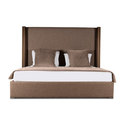 Harborcreek Plain Upholstered Panel Bed Color: Brown, Size: Mid Height Queen