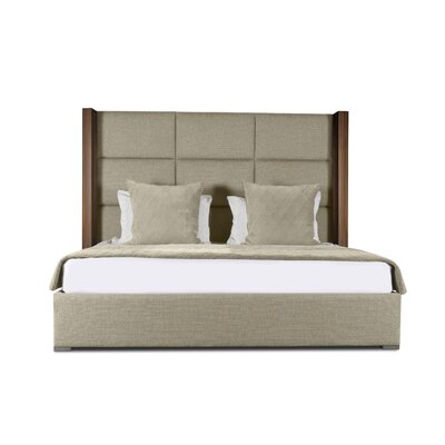 Harborcreek Square Tufted Upholstered Panel Bed Color: Sand, Size: Mid Height King