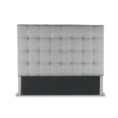 Hannover Box Tufting Upholstered Wingback Headboard Color: Gray, Size: High Height Queen