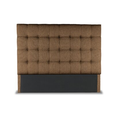 Hannover Box Tufting Upholstered Wingback Headboard Color: Brown, Size: High Height King