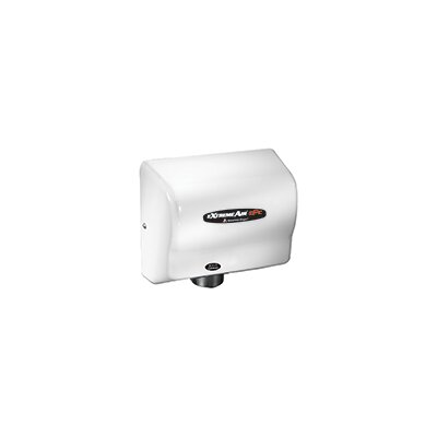 Adjustable High Speed 100 - 240 Volt Hand Dryer in White CPC9-M