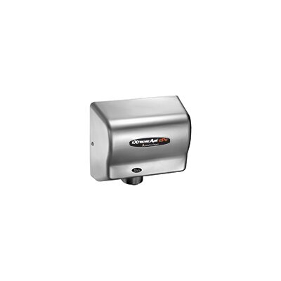 Adjustable High Speed 100 - 240 Volt Hand Dryer in Satin Chrome CPC9-C