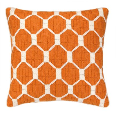 Montebello Bargello Throw Pillow Color: Cantaloupe