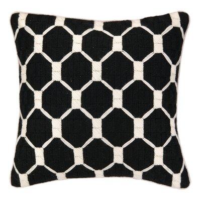 Montebello Bargello Throw Pillow Color: Black