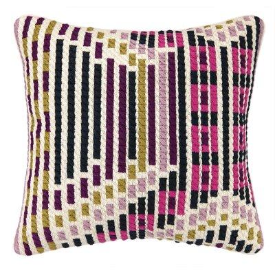 Madera Bargello Throw Pillow Color: Berry