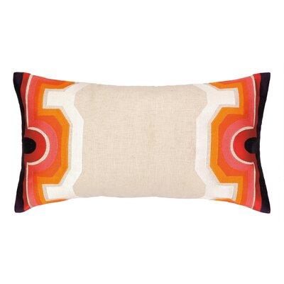 Arcata Embroidered Lumbar Pillow Color: Pink / Purple