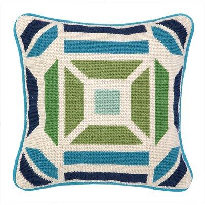 Novato Needlepoint Throw Pillow Color: Blue / Green