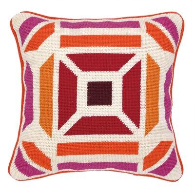 Novato Needlepoint Throw Pillow Color: Pink / Purple