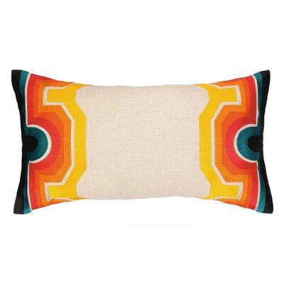 Arcata Embroidered Lumbar Pillow Color: Blue / Orange